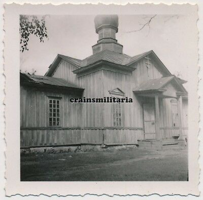 Orig. Foto orthodoxe Kirche Holzkirche in Russland 1941