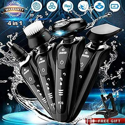 Electric Razor Shaver 4 in 1,Waterproof,Rechargeable USB Cordless,Portable,man's