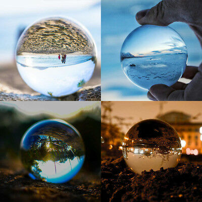 Clear Glass Crystal Ball Healing Sphere Photography Photo Props Gifts 20-90mm