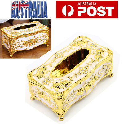Vintage Tissue Box Holder Paper Cover Storage Case Napkin Container Xmas Gift AU