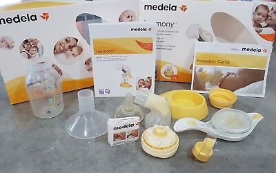 MEDELA Harmony Manual Breast Pump 2-Phase BPA free Excellent PreOwned Condition