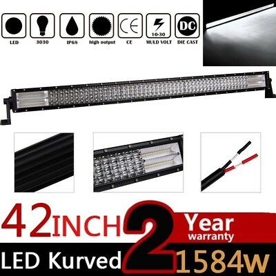 42'' INCH 1584W CURVED Quad ROW LED WORK LIGHT BAR FLOOD SPOT COMBO OFF-ROAD