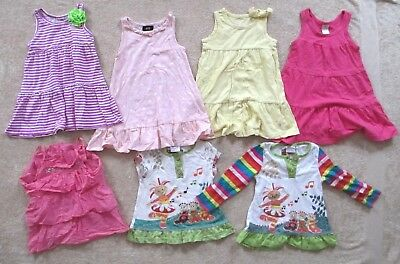 Size 1-2 Toddler Girl Bundle - 2 In the Night Garden Tunics/ 4 Dresses /1 Top