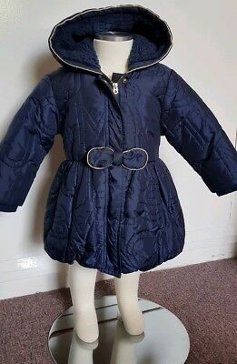 Little Marc Jacobs Baby Girl Navy Blue Jacket 12-18m