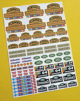 RC Rock Crawler 'CAMEL TROPHY TEAM SCANDINAVIA' 18th scale stickers decals RC4WD