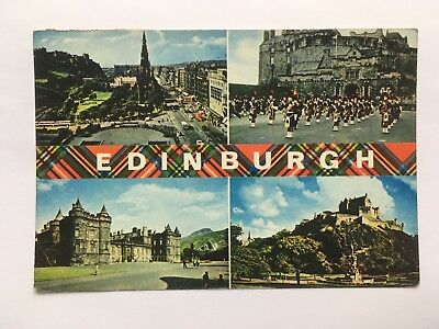 Views of Edinburgh - Antique Postcard - Posted 1970