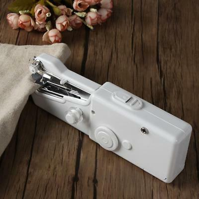 PORTABLE CORDLESS HAND HELD SINGLE STITCH FABRIC SEWING MACHINE TRAVEL HOME Hot