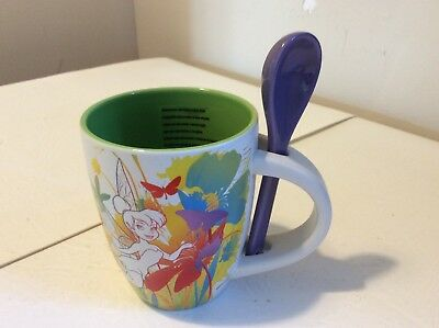 Disney Store Exclusive Tinkerbell Mug New With Labels And Spoon Attached