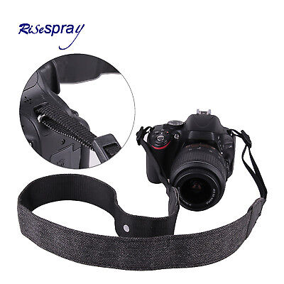 Camera Shoulder Neck Belt Cotton Strap For DSLR Canon Sony Nikon Olympus Grey