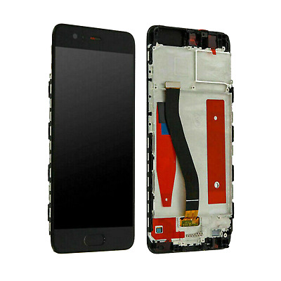 TOUCH SCREEN DISPLAY LCD FRAME Huawei P10 VTR-L09/L29 VETRO Nero Black