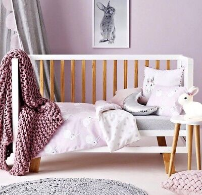 Brand New Adairs Kids Bessie Bunny Cot Quilt Cover Set RRP $100