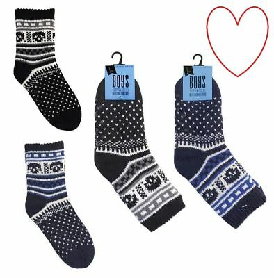 Boys Slipper Socks Bed Accessories Lined Lounge Winter Gift