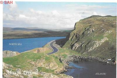 Mavis Grind, Shetland, where the Atlantic meets the North Sea Scotland postcard