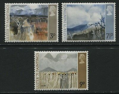 GB 1971 Ulster Paintings set of 3 stamps - SG881-883 MNH - BQ188