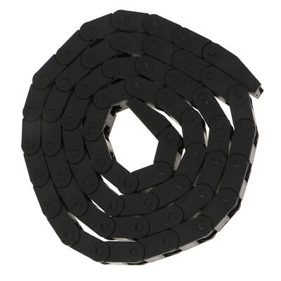 1m Black Plastic Drag Chain Cable Wire Carrier CNC Router for 3D Printer
