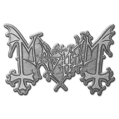 Mayhem Logo Metal Pin Badge Official Black Metal Band Merch New