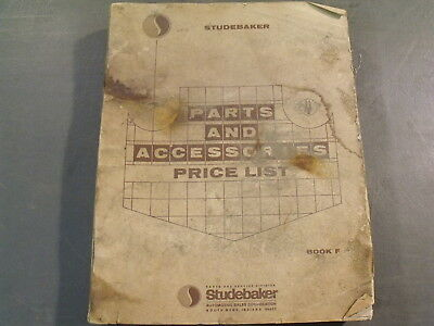 Nice Original 1966 Studebaker Parts & Accessories Price List Book Manual Catalog