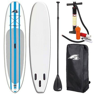 "F2 Basic Inflatable Sup Pro Set Blue ~ 10"" + Pumpe Bag + Paddel ~ Testboard"