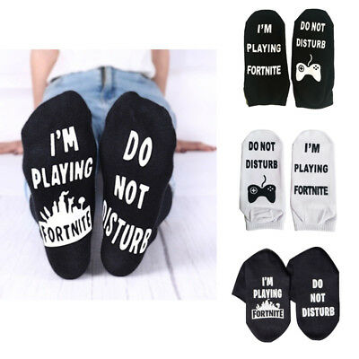 Breathable Funny Sport Socks DO NOT DISTURB/ I'M PLAYING Fortnite Gamer Gift