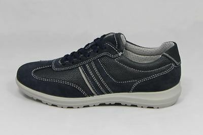 SCARPE ENVAL Italy UOMO 7897300 Sneakers Made Camoscio Blu Soft In rBrCwq51x