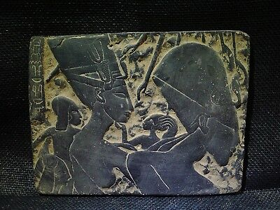 EGYPTIAN ANTIQUES ANTIQUITIES Akhenaten With Family Stela Relief 1352-1335 BCE