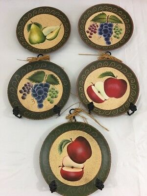 5 Home Interiors Homco Decorative Fruit Plates Pears G Le With 3 Hangers