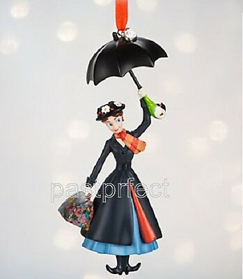 Disney Store Mary Poppins Sketchbook Christmas Ornament Resin New in Box 2018