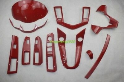 11PC Red ABS Car interior kit Cover Trim For Chevrolet Cruze