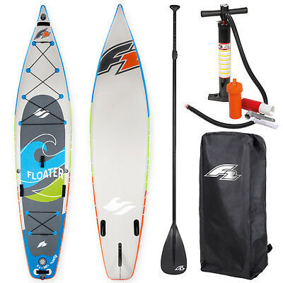 "F2 Sup Floater 11,6"" 2018 Stand Up Paddle Board + Paddel Bag Pumpe ~ Testboard"