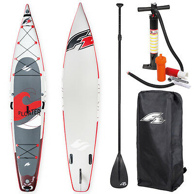 "F2 Sup Floater 11,6"" Red 2018 Stand Up Paddle Board + Paddel & Pumpe ~ Testboard"