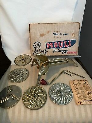 Vintage Mouli Shredder 5 Blades Made In France