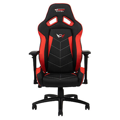 Gt Omega Elite Racing Gaming Office Chair Black And Red Pvc Esport Seat