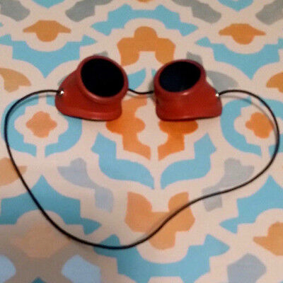 RARE 1940's  Welding Safety goggles Rubber & Green Glass Lenses STEAMPUNK