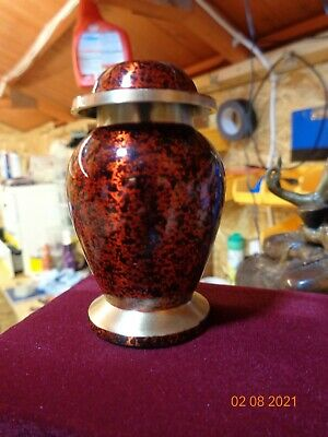 Mini Cremation Urn Token Ashes Urn Keepsake Funeral Ashes Urn    (Red)