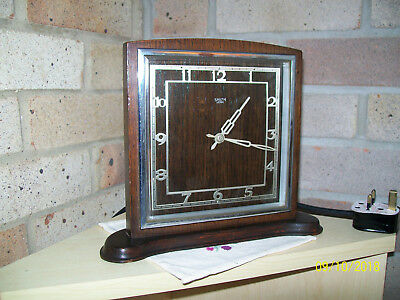 Retro Vintage Deco Style 50s Smiths Sectric Electric Mantle Clock / British/ GWO