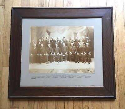 1901 Passaic County NJ Grand Jury Large Format Group Photo with Named Sheriff