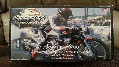 Harley-Davidson Screamin Eagle Andrew Hines Pro Stock Drag Bike 1:9