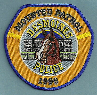 Des Moines Iowa Police Mounted Patrol Patch