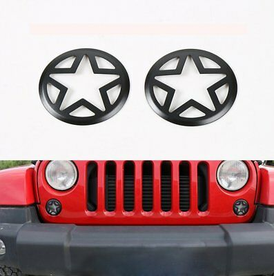 Rugged Five Stars Front Turn Signals Cover Guard For Jeep Wrangler 07-18 JK