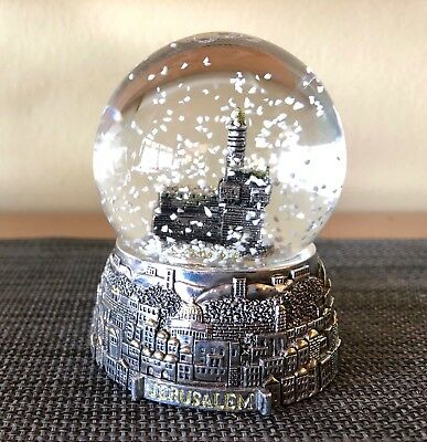 Jerusalem In Silver - Snow Globe - Tower Of David - Old City