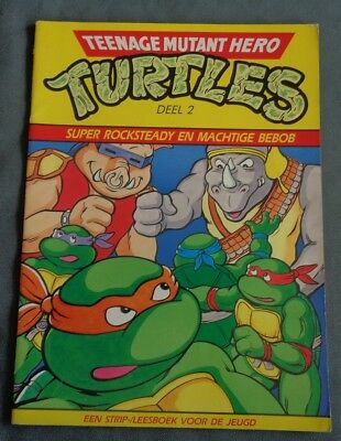 1990 vintage TEENAGE MUTANT HERO MUTANT TURLTES TMNT deel 2 STRIPBOEK LEESBOEK