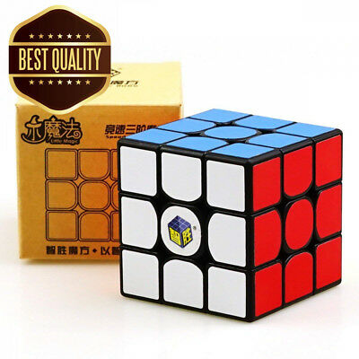 YuXin Little Magic 3x3x3 Speed Cube Smoothly Fast Twsit Puzzle (Black)