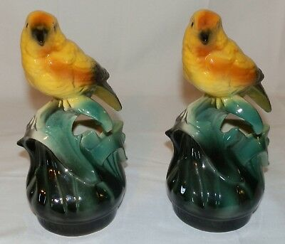 Pair of Vintage Bird Planters Made in California
