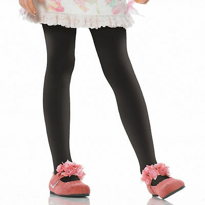Thick Black 80 Denier Lycra Tights 4-5 Years Girls Kids Luxe High Quality Dance
