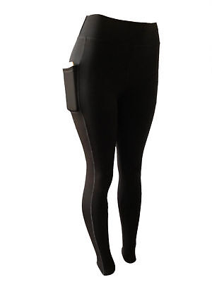 Women Compression Micro Fleece Lined Thermal Active Leggings Pants With Pockets
