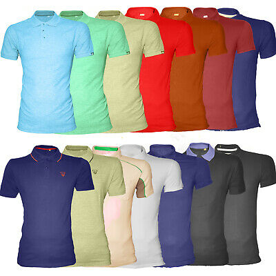 Mens Classic Polo T-Shirts 100% Cotton Casual Size XS to 3XL LOT 170 GSM Thick