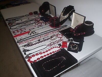 Large Job Lot Of Vintage & Costume Jewellery Necklaces Bracelets Earring (P)
