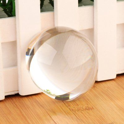 US 60mm Clear Half Sphere Crystal Ball Paperweight Magnifying Glass Decoration