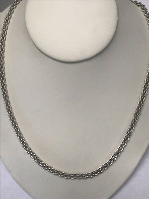 """Beautiful Heavy Solid Sterling Silver 925 Mesh Multi Linked Chain Necklace 20"""""""