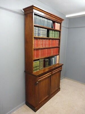 Antique Victorian Mahogany Bookcase Circa 1880